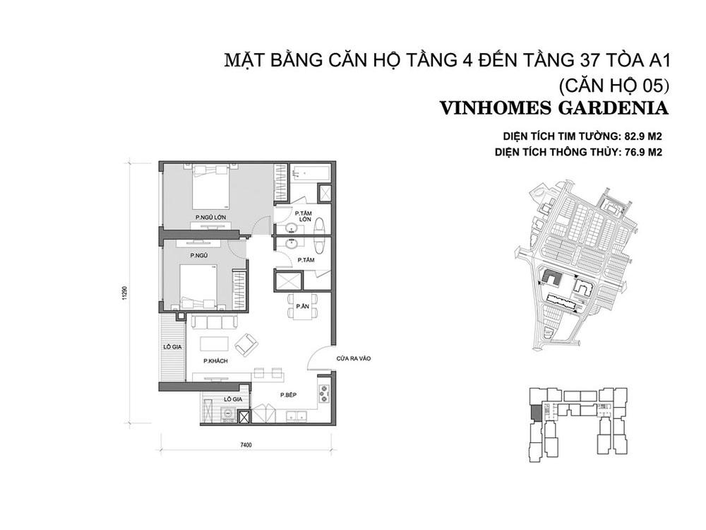 mat-bang-can-ho-05-toa-a1-vinhomes-gardenia