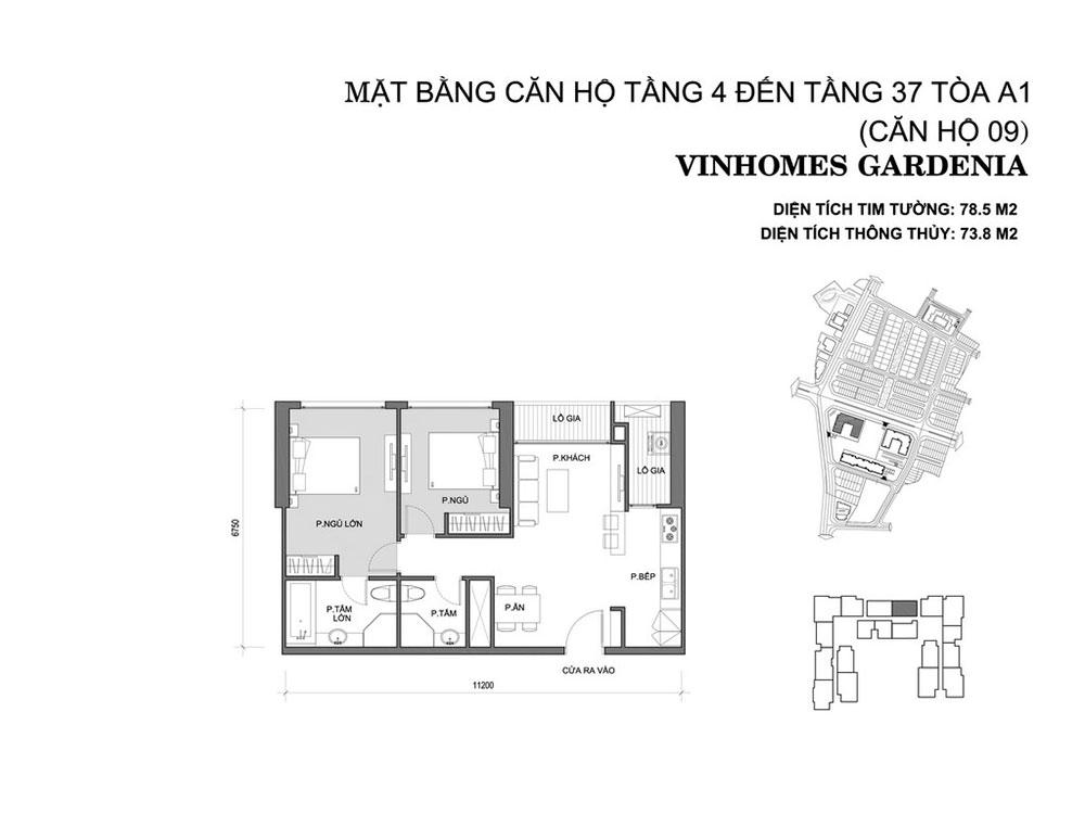 mat-bang-can-ho-09-toa-a1-vinhomes-gardenia
