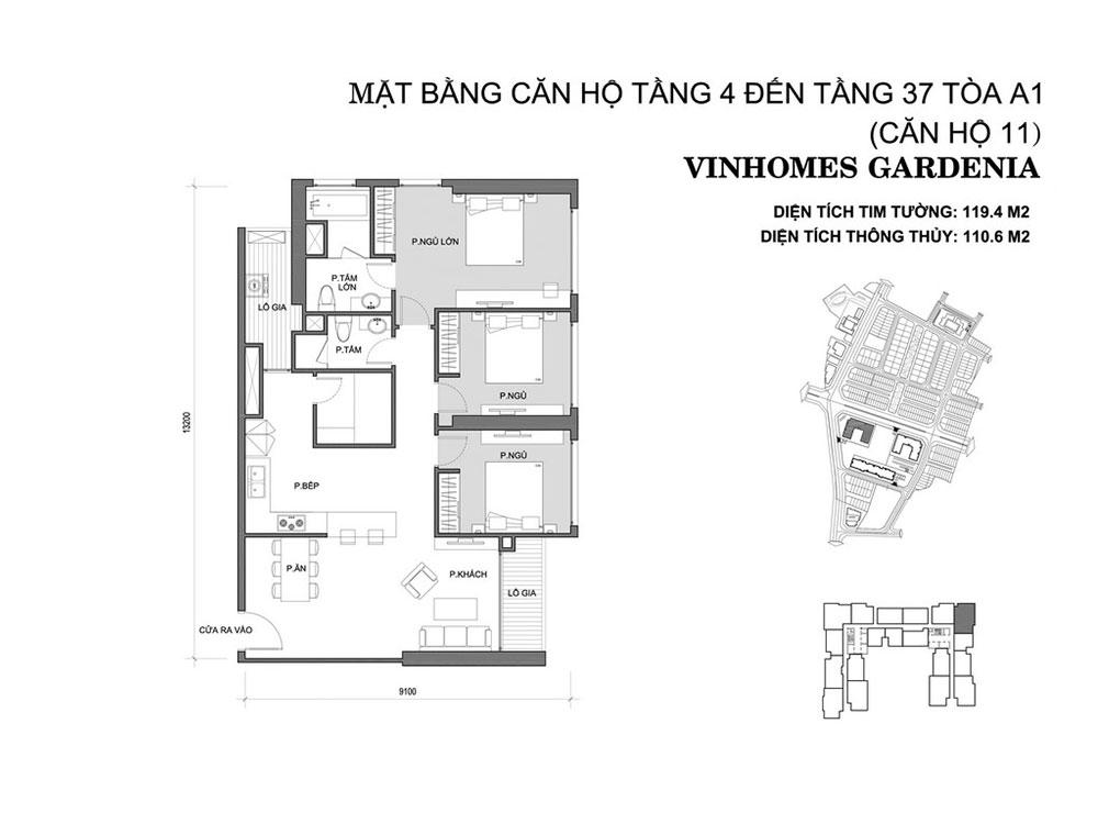 mat-bang-can-ho-11-toa-a1-vinhomes-gardenia