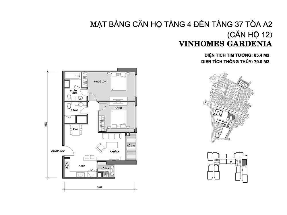 mat-bang-can-ho-12-toa-a2-vinhomes-gardenia