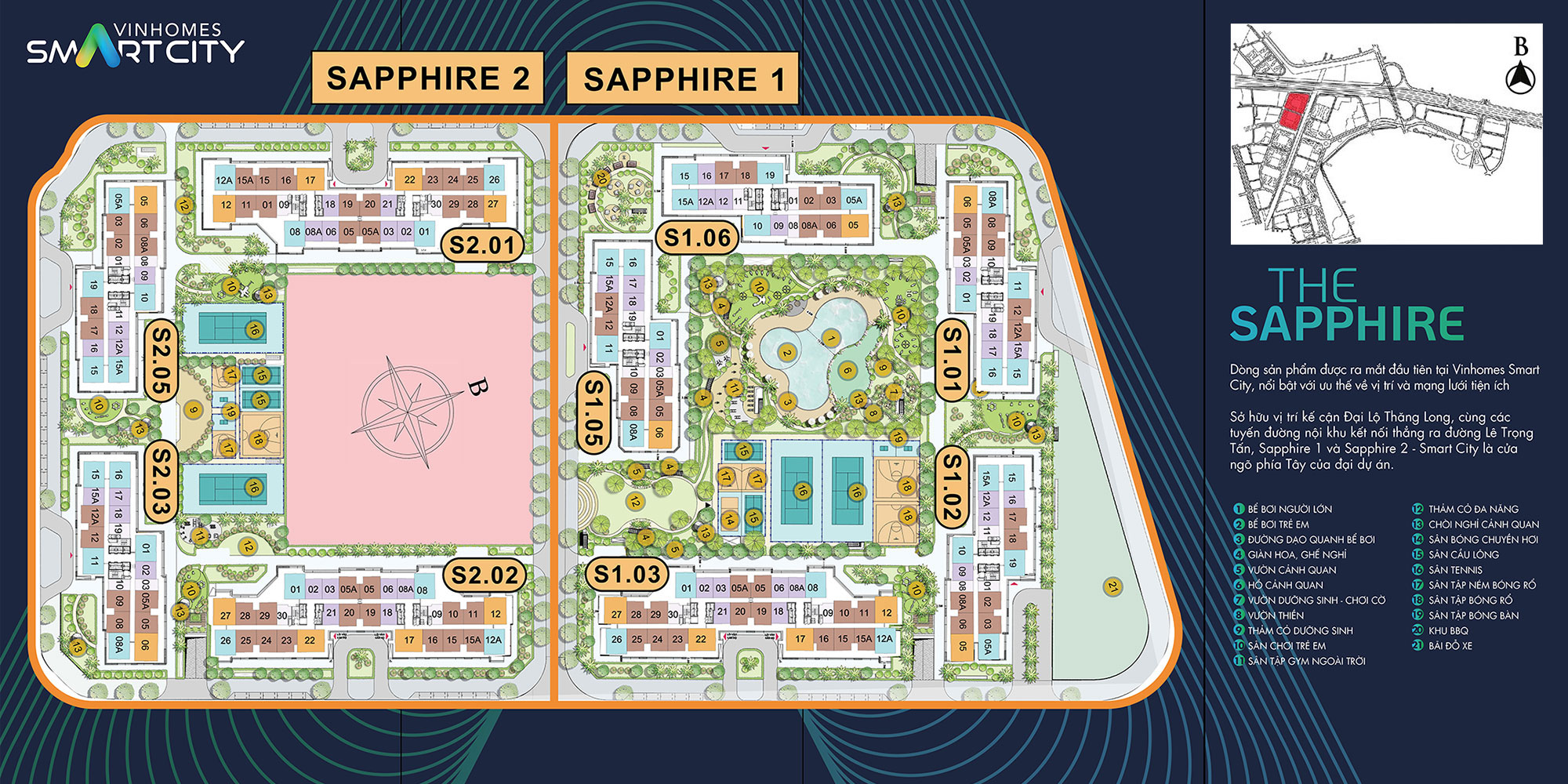 mat-bang-phan-khu-the-sapphire-1-the-sapphire-2-vinhomes-smart-city