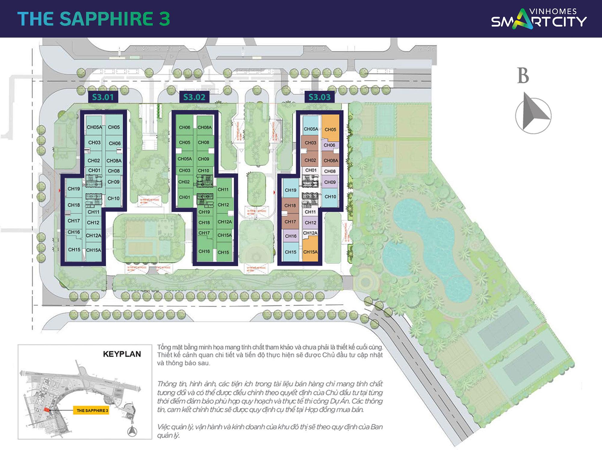 mat-bang-phan-khu-the-sapphire-3-vinhomes-smart-city
